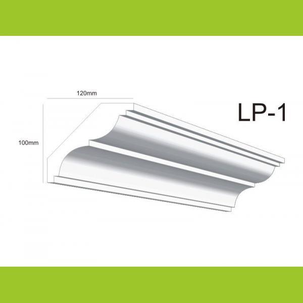 Deckenabschlussleiste Styropor LP1 - 10 cm