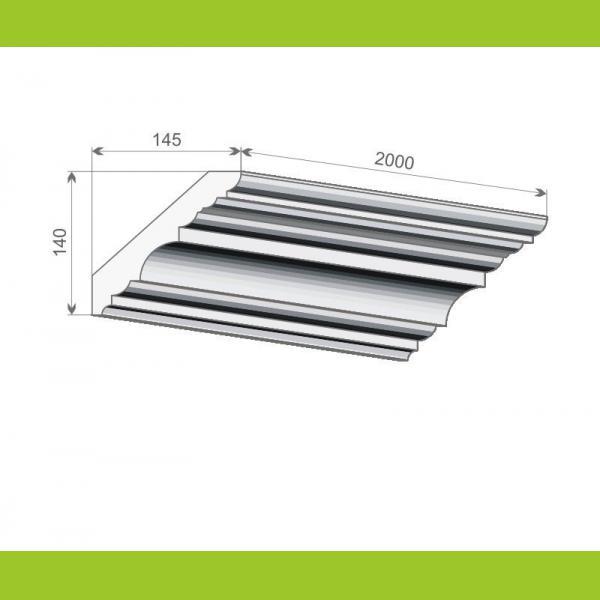 Deckenleiste Kunststoff FE7 - 14 cm
