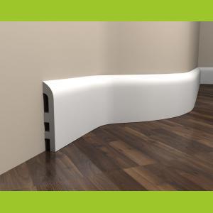 Fußbodenleiste weiß elastisch MD355F Mardom Decor