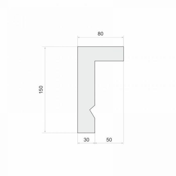 Gardinenblende Weiß LKO12A