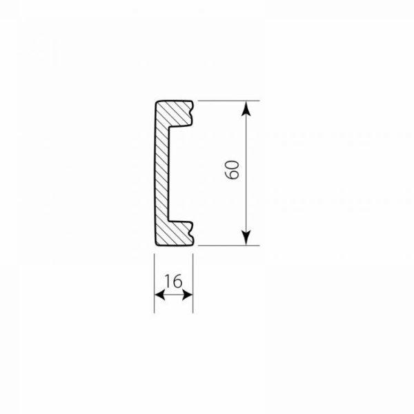 Sockelprofil Polymer DSP08